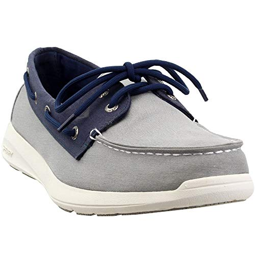 Sperry Mens Sojourn Saltwashed 2-Eye Casual Shoes, Grey, 12