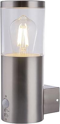 Globo Lalli Lampe d'extérieur en acier inoxydable, plastique transparent