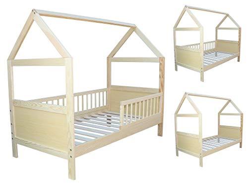 Micoland Kinderbett Juniorbett Bett Haus 140x70cm massiv Kiefer umbaubar