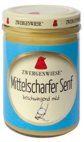 6er-VE Bio Mittelscharfer Senf 160ml Zwergenwiese