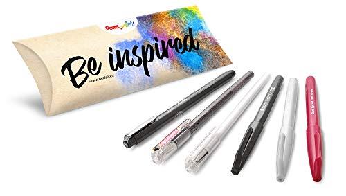 Pentel Kreativ-Set, 6-teilig, ideal für Handlettering, Bullet Journal, Sketch Notes u.v.m. Arts sortiert