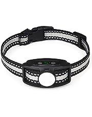 JJOBS Collar Antiladridos para Perros para Addestramento Automático, con Ajustable Vibración sin Descarga Eléctrica, Impermeable y Recargable (Azul1)