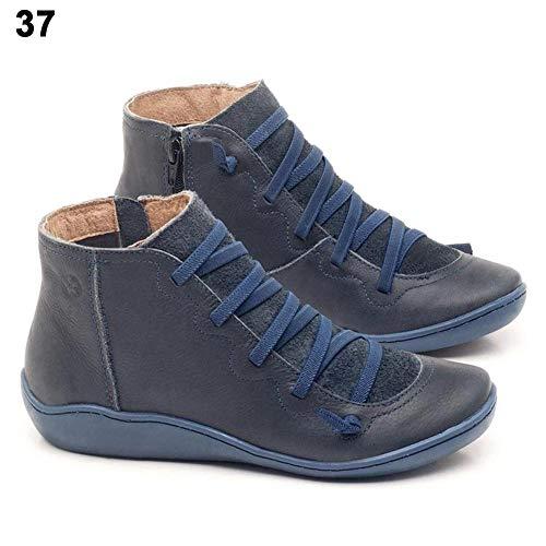 regalos para novias y madre botines c/ómodos de tac/ón de 3.5 cm para mujer Botas de apoyo para el arco para mujeres botas de invierno casual para mujer