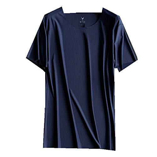 Camiseta para hombre, sin costuras, manga corta, cuello redondo