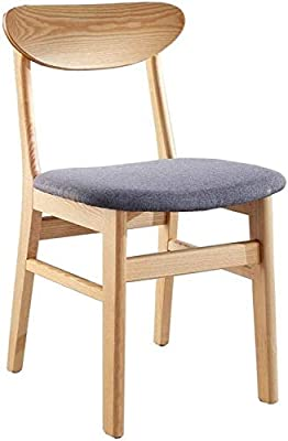Hao Shuo New Furniture Modern Dining Hao Shuo Fashion New Furniture Modern Dining Chair Family Kitchen Chair Fashionable Solid Wood Chair, Dining Chair Back with Cushion and Fabric Dining Chair Table