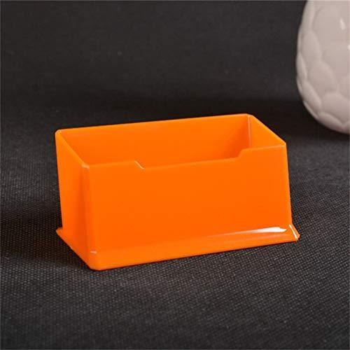 JIEIIFAFH Hohe Qualität 1 PC löschen Schreibtisch Regal Box Speicher Display-Ständer Acryl Kunststoff transparent Desktop-Visitenkartenhalter 10.5 * 4.5 * 4.5cm (Color : Orange)