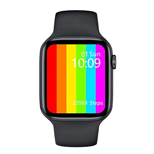 LZXMXR Reloj inteligente, deportivo IP68, resistente al agua, 1.75 pulgadas, pantalla táctil para hombres, reloj de pulsera de fitness, reloj inteligente para iOS Android (color: negro)
