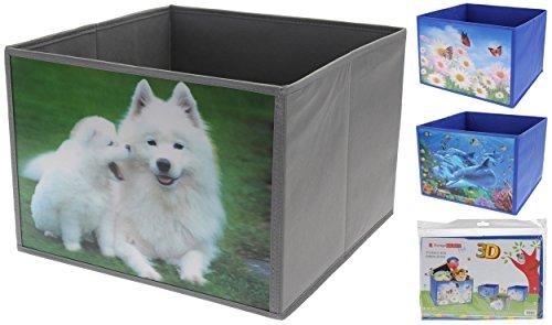 Made2trade Opvouwbare opbergdoos met diermotieven voor kinder- en babykamer, set van 3