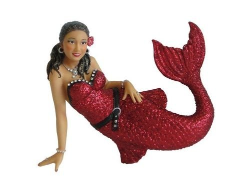 December Diamonds Michelle Red Mermaid Laying Down Christmas Ornament 5590807