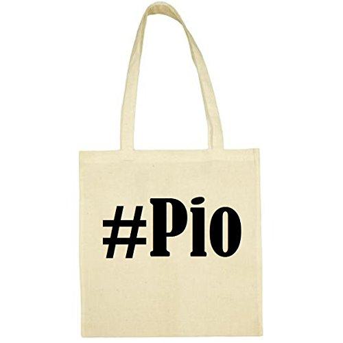 Tasche #Pio Größe 38x42 Farbe Natur Druck Schwarz