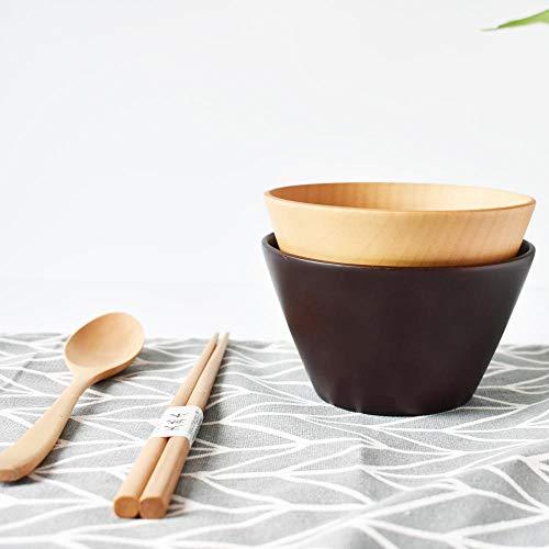 QVC bamboeservies van natuurlijk bamboe, kom uit de soepkom uit de kom van hout