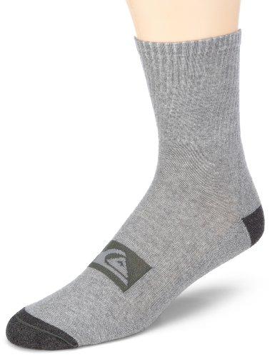 Quiksilver Herren Sneaker & Söckchen KIMSX062/HIGH SOCKS PACK X 3, Gr. one size (L), Grau (MEDIUM GREY HEA)