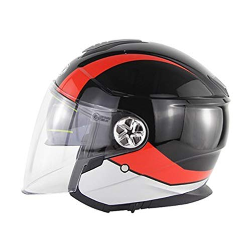 Massage-AED Cascos De Motocross De Moto, ECE Homologado,Profesional Half Moto Cascos Helmet para Mujer Y Hombre,Adultos Confortable Casco Moto Jet para Street Bike Cruiser Chopper Moped Scooter