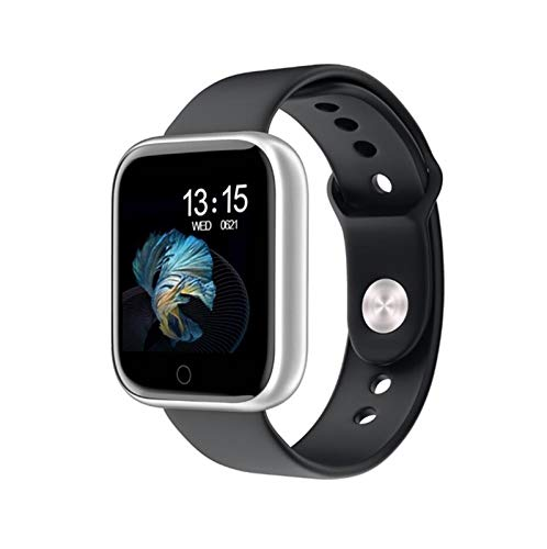 YNLRY Nuevo Reloj Inteligente Mujer Smartwatch para Android iOS Electronics Smart Clock Silicone Bluetooth SmartWatch (Color : Gary)