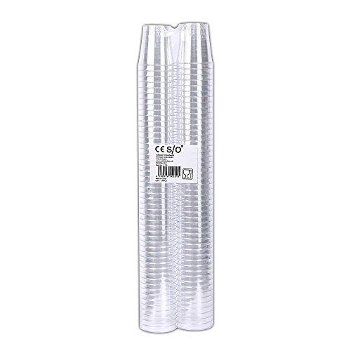 Schramm® 100er Pack Einweg Schnapsgläser Fassungsvermögen 30ml Einweg Plastik Kunststoff Schnapsglas