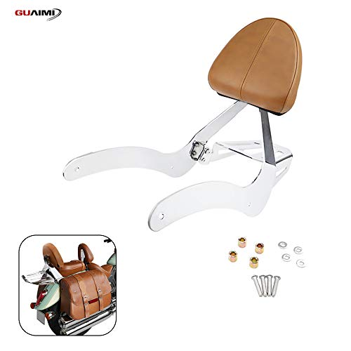 GUAIMI Passenger Backrest Detachable Sissy Bar Luggage Rack with Cushion Pad for Indian Scout 2015-2020 Indian Scout Sixty 2016-2020