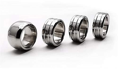 Z-one 1 4Pcs Anillo de metal para alianzas de boda de plata para hombre Acabado pulido Tiempo flexible