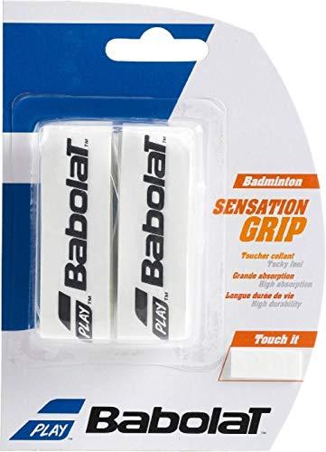 Babolat Badminton Basis Griffband Sensation 2er Packung in verschiedenen tollen Farben (blau)