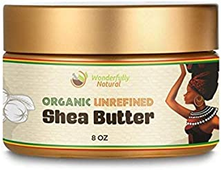 Unrefined Shea Butter - African Organic Ivory & Raw – Use Alone or In DIY Cream, Soap & More! - Vitamins Rich, Natural Healing for Eczema, Stretch Marks, Moisturizing Dry Skin & Hair Care 8 OZ