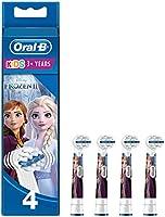 Oral-B 4210201154754 Power Kids Frozen Wymienne Końcówki Do Szczoteczek, 4Sztuki, Wielokolorowy