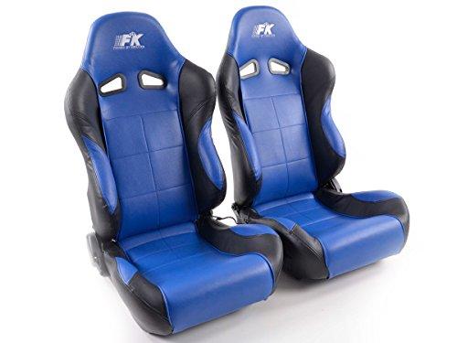 FK Automotive FK Sportsitz Autositz Halbschalensitz Set Comfort Rennsitz mit Sitzheizung + Massagefunktion FKRSE893/894