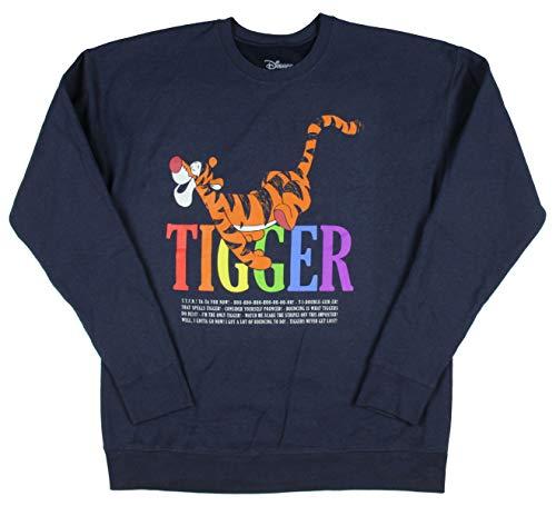 Disney Winnie The Pooh Tigger Bouncing Mens Pullover Sweatshirt XX-Large Navy