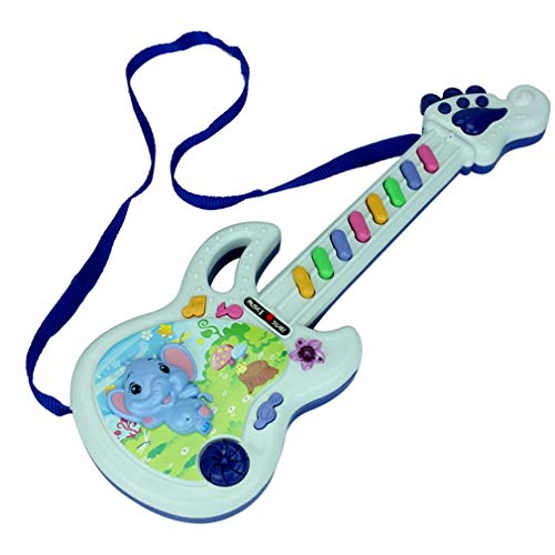 Dpatleten Electric Guitar Toy Musical Play Kid Boy Girl Toddler Learning Electron Toy Multicolor