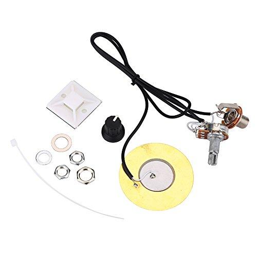 Pastilla Piezoeléctrica, 50 mm Guitarra Pastilla Transductor Piezoeléctrico Amplificador Precableado con Salida de 6.35 mm Jack para Guitarra Acústica Ukulele Cigar Box Guitar