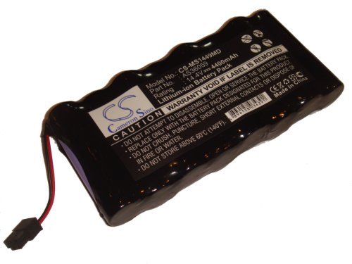 vhbw Li-Ion Akku 4400mAh (14.4V) für Überwachungsmonitor Siemens Monitor SC6002XL, SC6802XL, SC7000, SC9000XL, Drager MS14490 wie AS36059.
