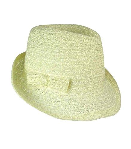 August Accessories Hats Women's Breezy Braid Fedora One Size Ivory