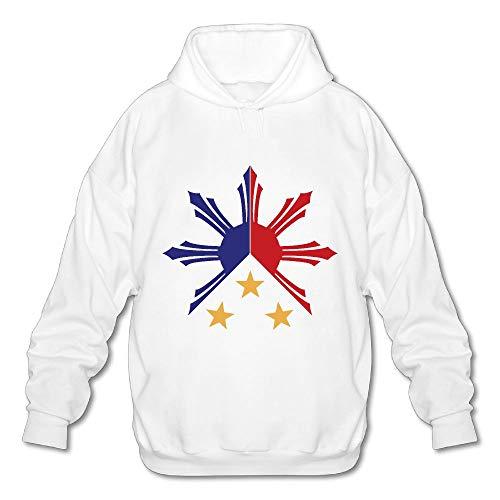 Tribal Philippines Filipino Sun and Stars Flag Mens Funny Hooded Sweatshirt Hoody