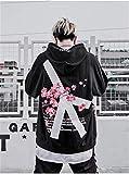 Sudadera con capucha Modis invierno flor de cerezo de impresión con capucha urbana de Hip Hop de gran tamaño de las mujeres unisex con capucha de algodón con capucha retro Jerseys para hombres y mujer