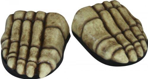 Generique - Sur-chaussures squelette adulte Halloween