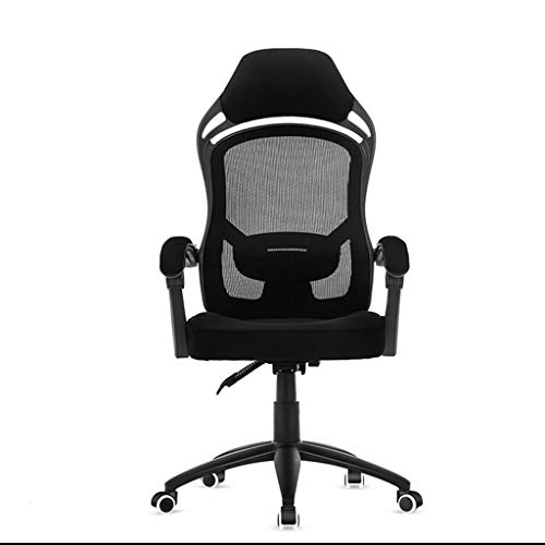 Chaise de Bureau Ergonomique Chaise de Jeu e-Sport Rotation à 360 ° avec Support Lombaire Chaise d'ordinateur Paresseux pour ménage LI Jing Shop (Couleur : Noir)