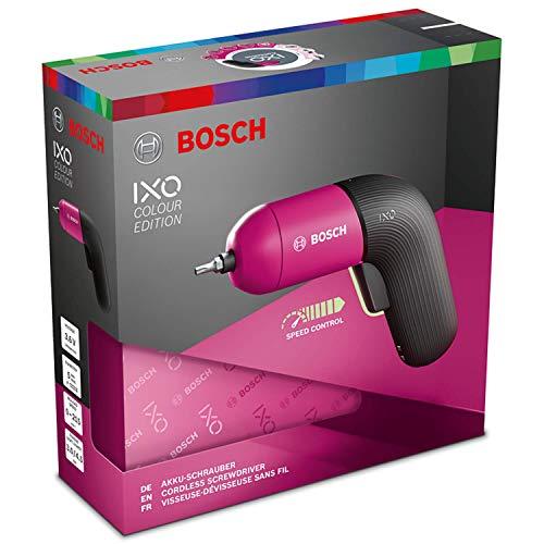 BOSCH IXO VI Screwdriver Professional   Cordless Electric Color 3.6V USB Rechargeble Lightweight Small Convenient Home Deco Li-ion Battery (Pink)