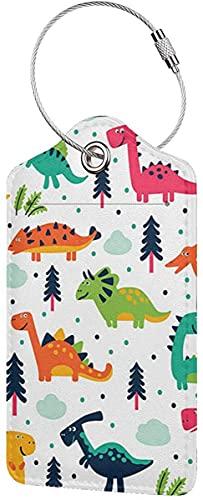 Etichette per bagagli da viaggio con copertura completa per la privacy e in acciaio inox Loop-Cooper Girl Jurassic Dinosaur
