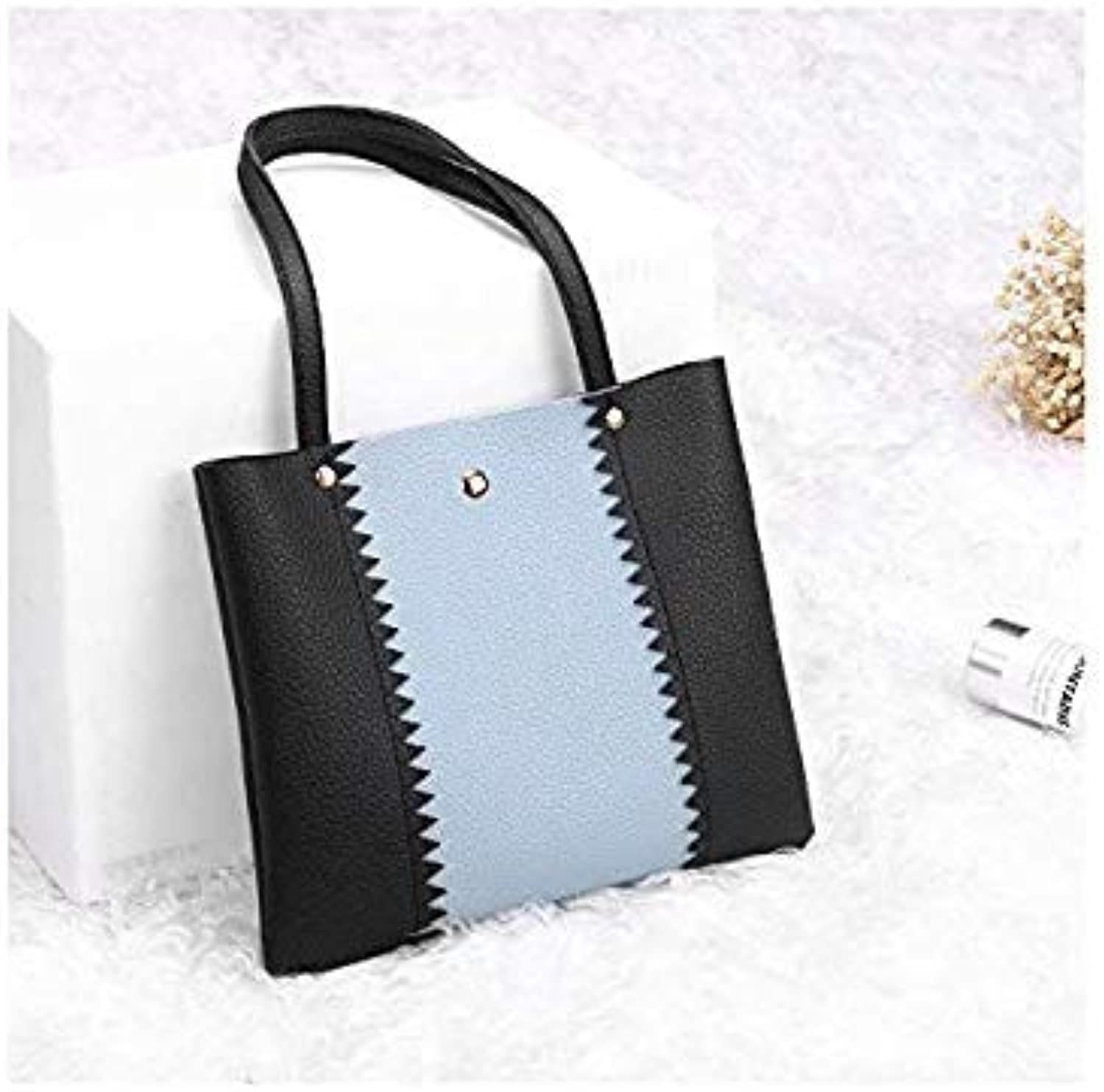 Bloomerang Billtera PU Leather Women Tote Bag Casual Style Female Hand Bag 4 colors Cheap Patchwork Ladies Handbags Can Drop Shopping color Black