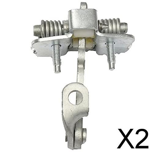 MagiDeal Tapón de Correa de Control de Puerta 2x Puerta Delantera Derecha Izquierda para 206 206CC 3DR