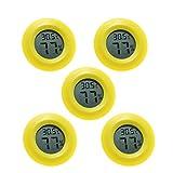 YONGQING Paquete de 5 Mini Higrómetro Termómetro Monitor LCD Digital Instrumento para Humidificadores Deshumidificadores Invernadero Sótano Cuarto de Bebé, Invernadero, Jardín