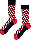 TODO COLOURS Motiv Socken - Geometric Print - mehrfarbige, verrückte, bunte Socken (43-46)