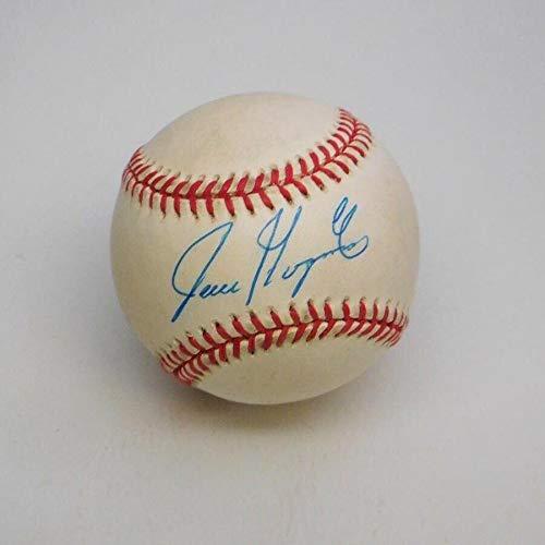 Juan Gonzalez Rangers Signed Official NL B. White Baseball Auto w B&E Hologram - Autographed Baseballs