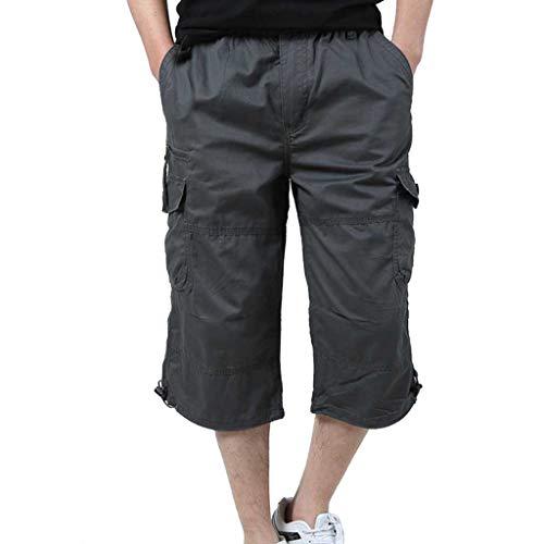 Btruely Kurze Shorts für den Alltag mit Mehreren Taschen - Herren Neue Sommer Multi-Pocket Overalls Mode lässig Strandhose, Herrenhosen Men Pants für Männer Sommer Herrenshorts Short
