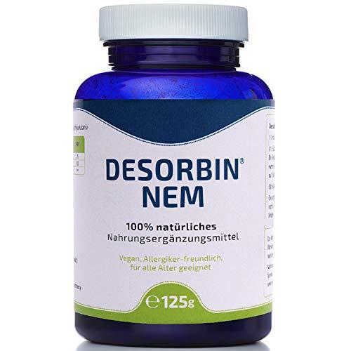 100% natürliches Aktivkohle Pulver • Magen-Darmpflege • Zahnaufhellung • Gesichtsmaske • mit Magnesium & Vitamin B12 • Desorbin NEM Aktivkohle Nahrungsergänzungsmittel 125 g