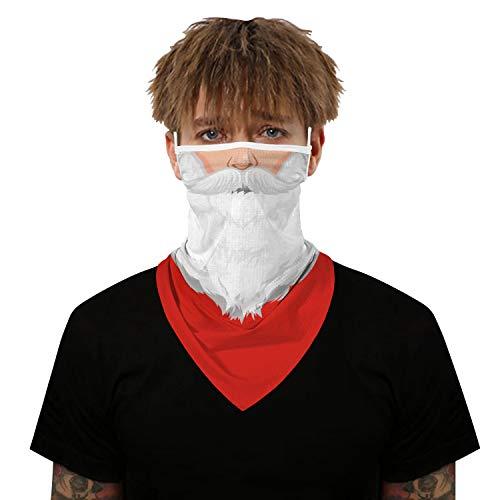 VICHYIE Neck Gaiter Bandana Face Mask Reusable Washable Cloth Ear Loops Men Women Balaclava Sun Dust Wind (Santa Claus-157)