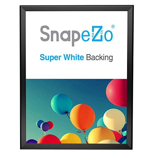 SnapeZo Photo Frame 18x24, Black, 1.25 Inch Aluminum Profile, Front-Loading Snap Frame, Wall Mounting, Professional Series