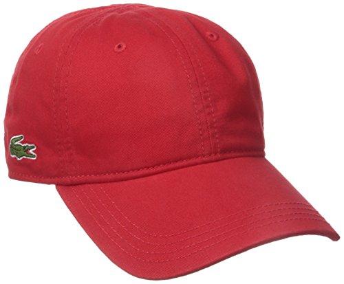 Lacoste Men's Men's Classic Gabardine 3cm Croc Cap, Red, One Size