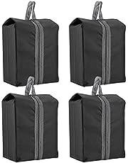 Paquete de 4 productos Bolsas de almacenamiento de zapatos, con tela de nylon impermeable resistente con cremallera para viajar (4piezas)