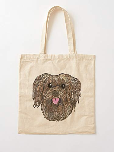 Bucal Love Cute Portrait Havanese Dog Canvas Tote Umhängetasche Stylish Shopping Casual Bag Faltbare Reisetasche