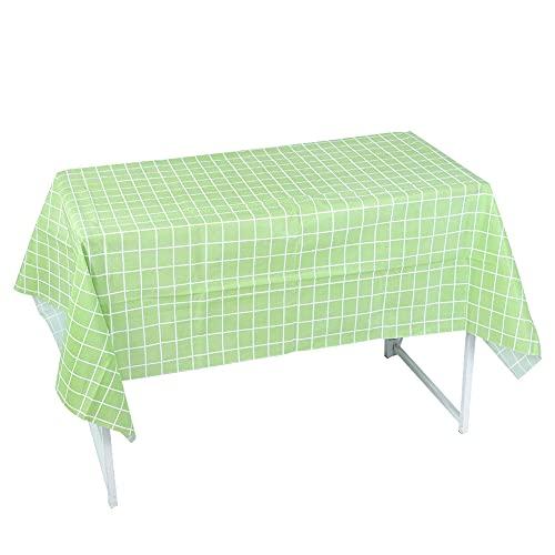 HERCHR 2pcs 53.9x70.9in Manteles de celosía Rectángulo PVC para la decoración del hogar de la Mesa de té(Verde)