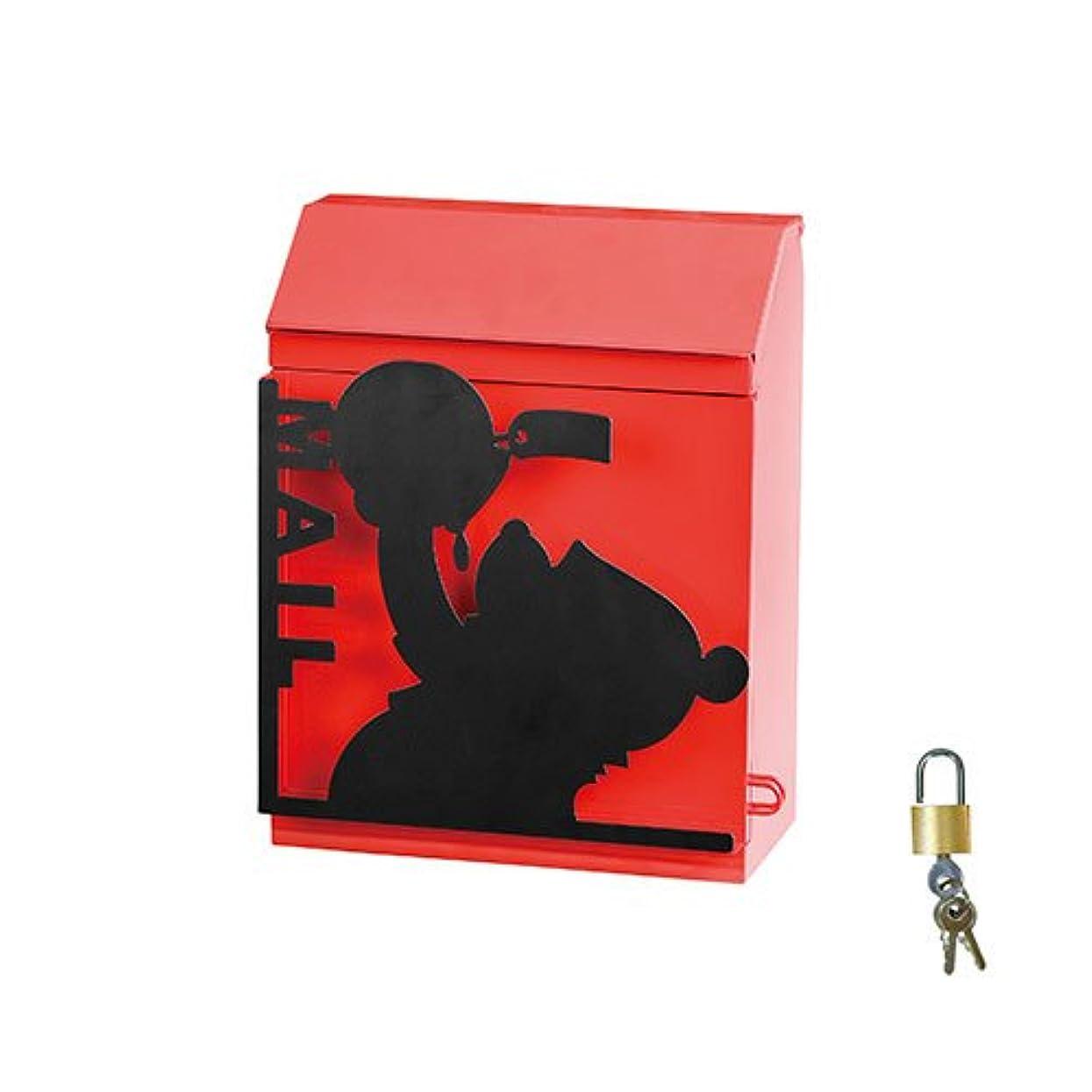 連帯小人財政郵便ポスト 郵便受け シルエットポスト プーさん SILHOUETTE POST SD-6063-1000